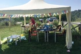 """Шатри в Археологически парк """"Тополница"""" – с.Чавдар – 20.08.2016г."""