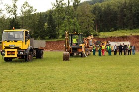 """Кетъринг оборудване под наем за """"Първа копка""""на строителен обект 18.06.2014г."""
